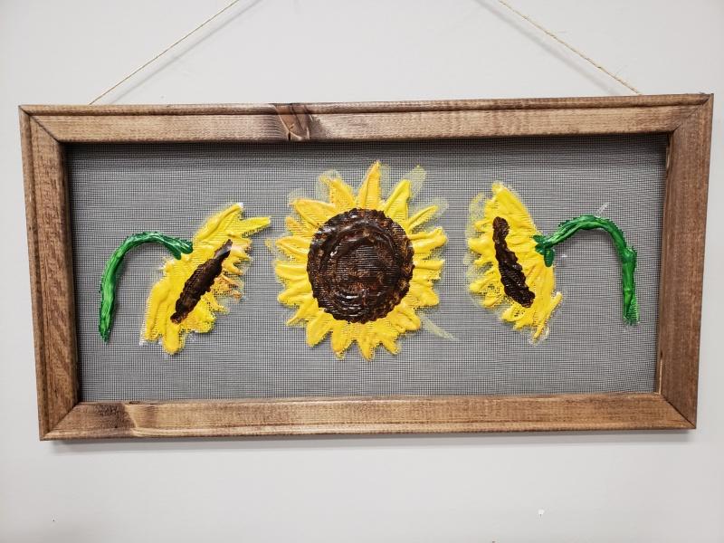 Screen - Sunflowers 3 (10x20)