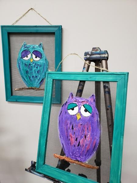 Screen - Colorful Owl 11x14