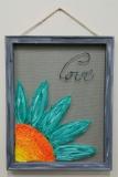 Screen - Peeking Flower 16x20