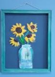 Screen - Mason Jar Flowers - Sunflowers