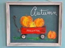 Screen - Wagon and Pumpkins Autumn