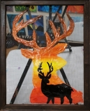 Screen - Sunset Deer
