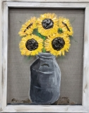 Screen -Sunflower milk jug
