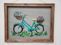 Screen - Bicycle with flowers