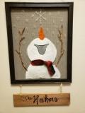 Screen - Joyful Welcome Snowman - fleece scarf with name board