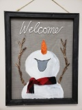 Screen - Joyful Welcome Snowman - fleece scarf