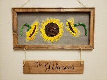 Screen - Sunflowers 3 (10x20) with name board