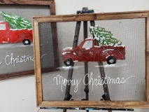 Screen - Red  Truck Merry Christmas