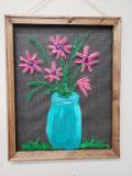 Screen - Mason jar and flowers