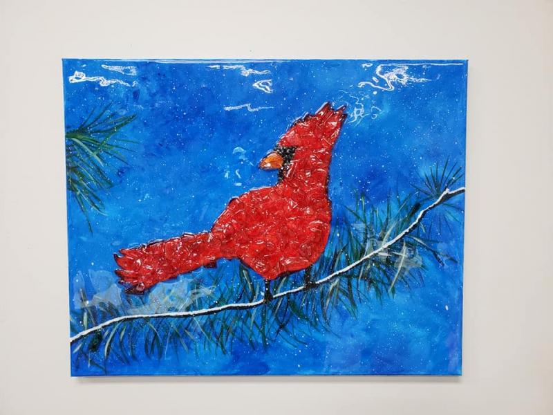 Xcelent Guest Creation - Cardinal with Evergreen