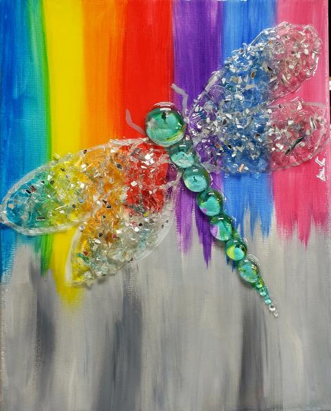 Dragonfly on a Rainbow