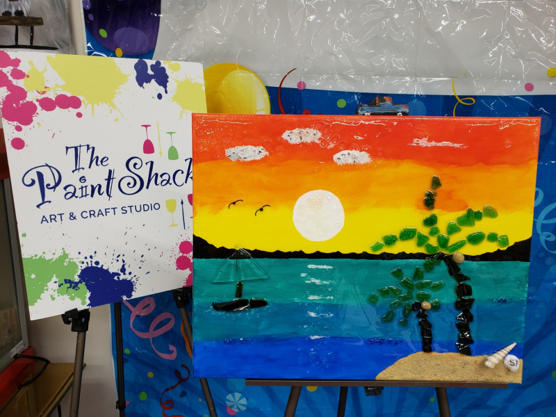 Xcelent Guest Creation - Sunset and sailboat