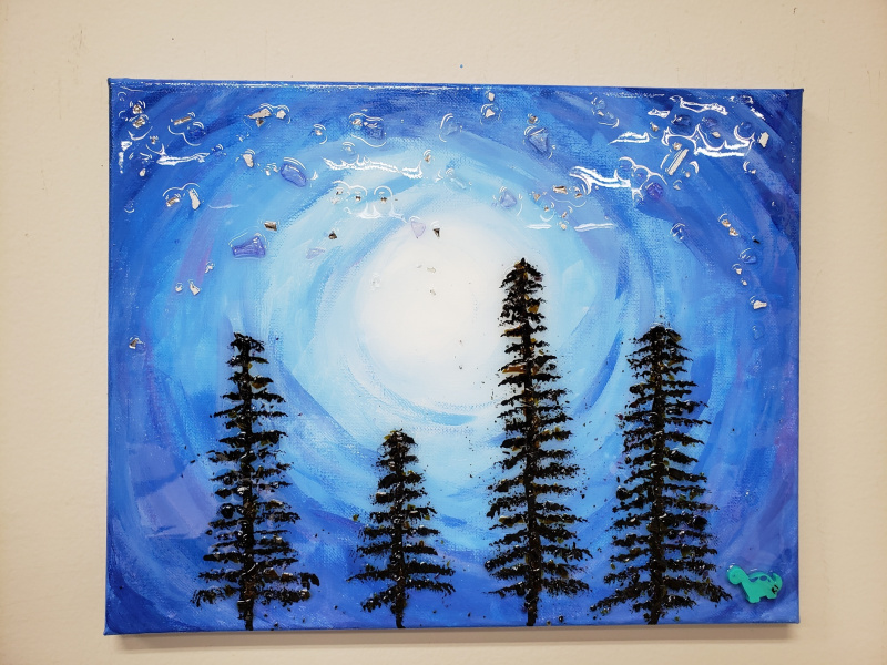 Xcelent Guest Creation - Pine trees with glass
