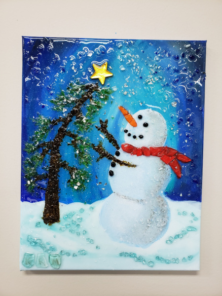 Xcelent Guest Creation - Snowman with Bending Tree