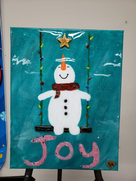 Xcelent Guest Creation - Snowman on a Swing