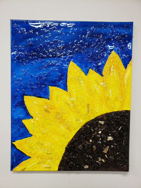 Xcelent Guest Creation -Sunflower with Glass