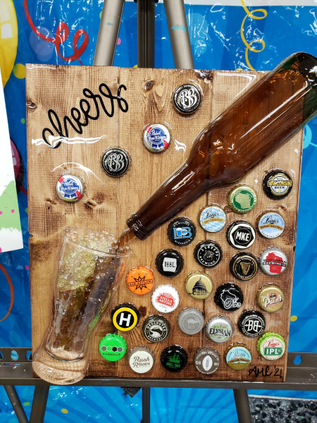 Xcelent Guest Creation - Pouring Beer with bottle caps