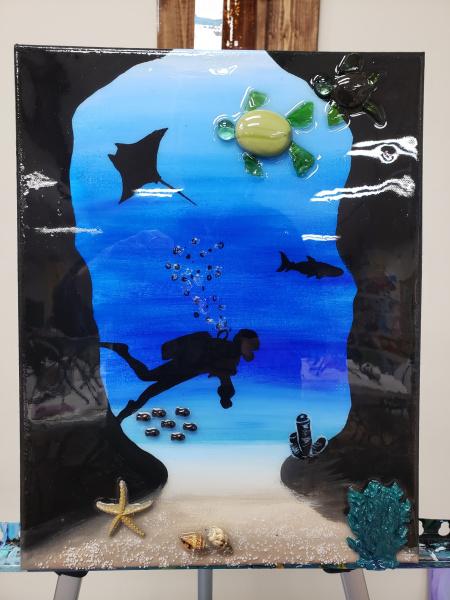 Xcelent Guest Creation - scuba diver cavern