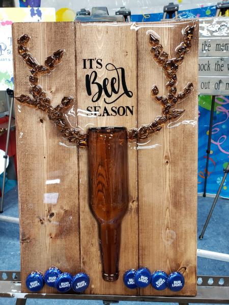 It's Beer Season -shattered art