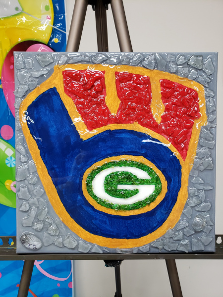 Wisconsin Sports-shattered art
