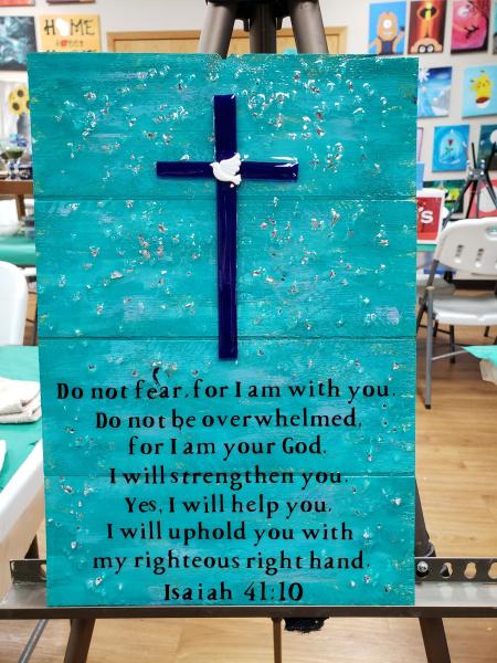 Xcelent Guest Creation -  Cross Isaiah 41:10