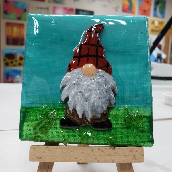Gnome on a mini canvas