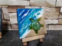 Turtle and ocean mini canvas