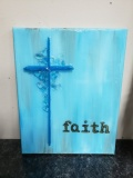 Faith Cross with shattered glass