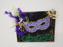 Mardi Gras with shattered glass