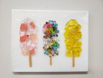 Popsicles made of glass
