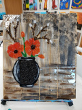 Xcelent Guest Creation - Poppies - wood