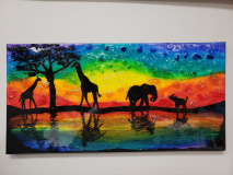 Xcelent Guest Creation - African Safari with glass