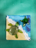 mini canvas turtle