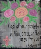 Painted Flowers - Cast all your anxiety