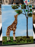 Giraffe 8x10 made with shattered glass