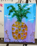 Pineapple  made with resin and shattered glass