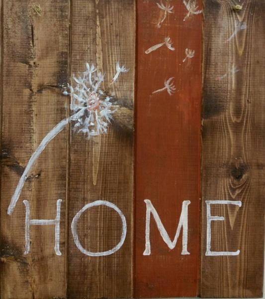 Wood Home Dandelion (14x16)