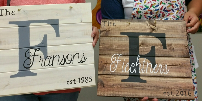 Name Boards - Block/Elizabeth font (14x16)