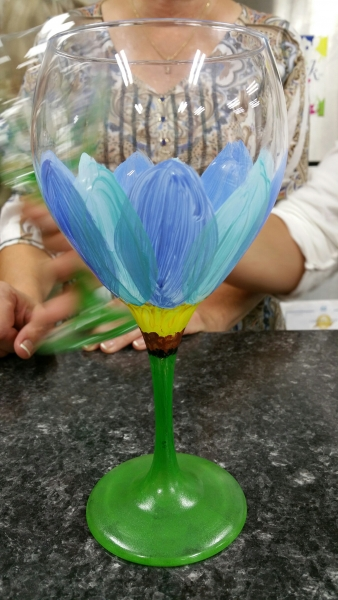 Wine Glass - Blue Tulip