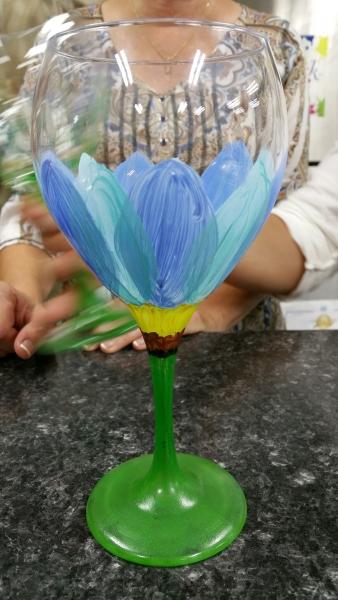 Glass - Blue Tulip