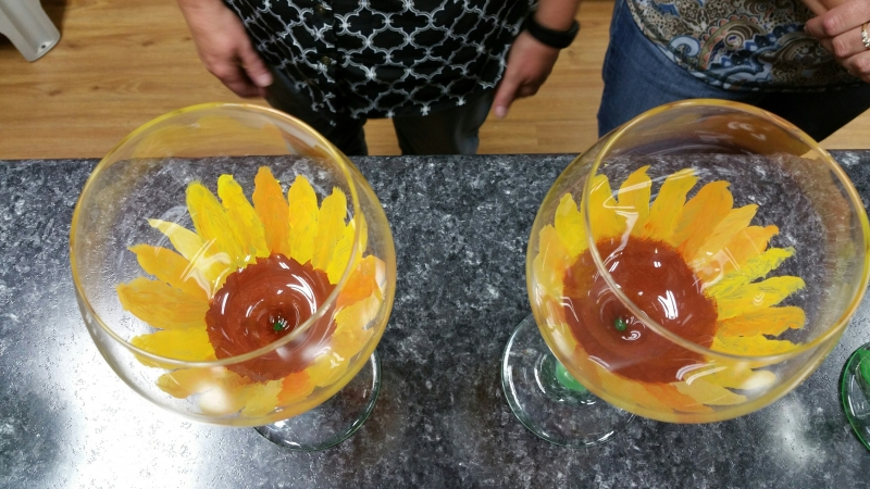 Wine Glass - Sunflower