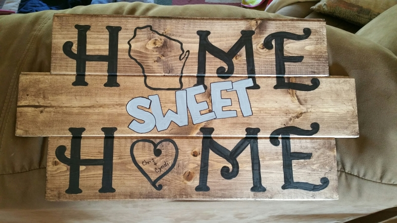 Wood Home Sweet Home (10 x 16&19)