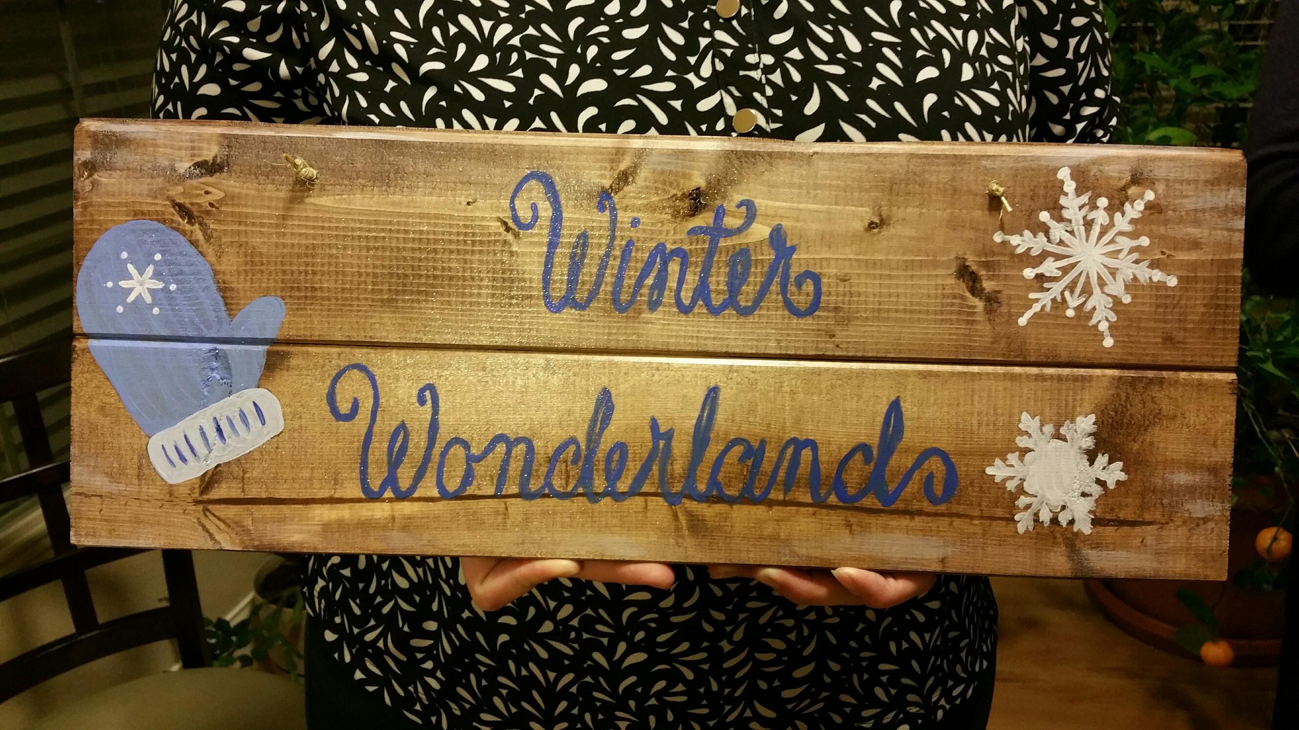 Wood Winter Wonderland (7x19)