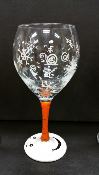 Wine Glass - Snowman Nose