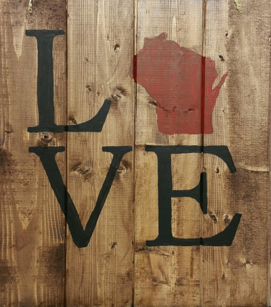 LOVE with Wisconsin (14x16)