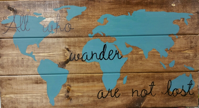 Wood World - all who wander (10x19)