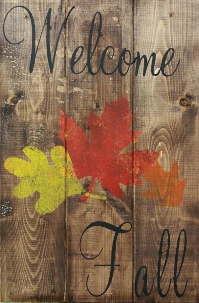 Wood Welcome Fall (10x16)