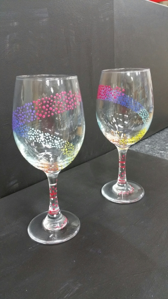 Glass Rainbow dots