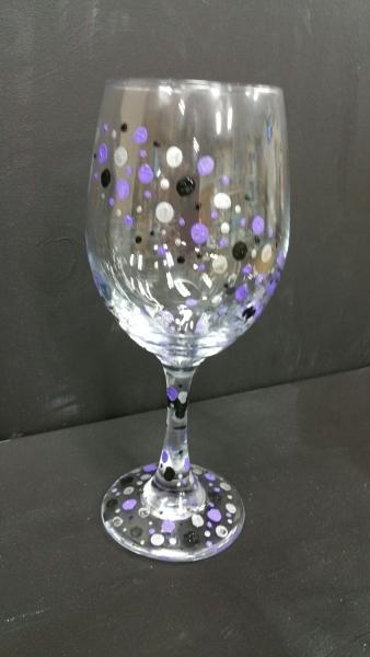 Glass Purple dots