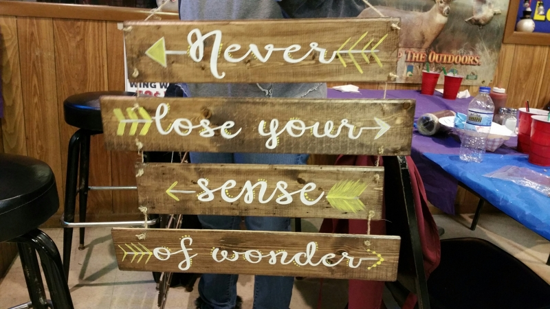 Wood Never Lose your sense of wonder -separate(16 &19 inches)